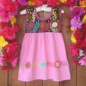 Other - Mexican Hand Embroidered Dress Size 3T